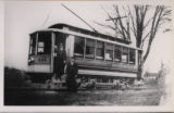 Lake Shore Electric Railway, car #101 and crew, photograph